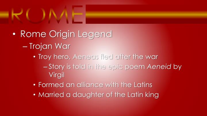 Rome Origin Legend
