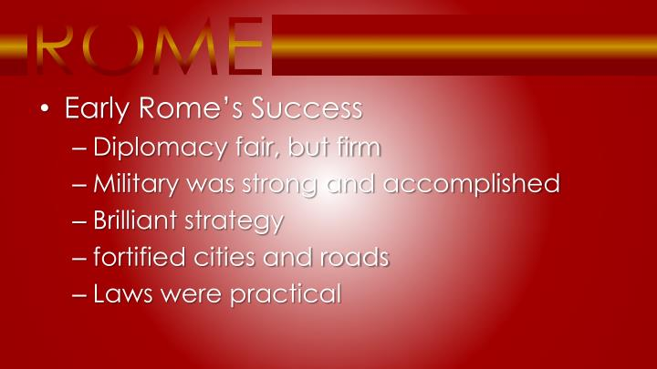 Early Rome's Success
