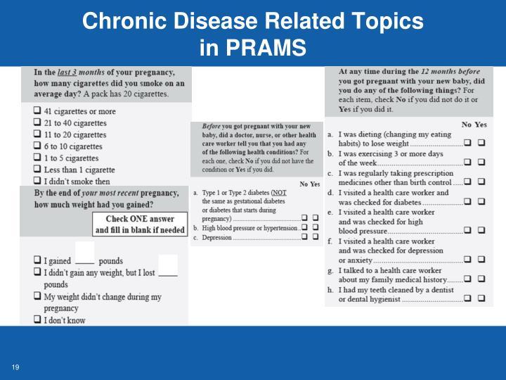 Chronic Disease Related Topics