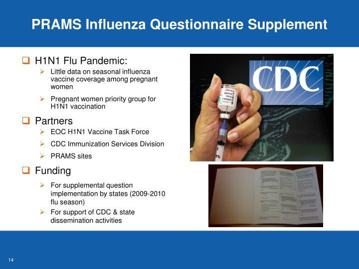 PRAMS Influenza Questionnaire Supplement