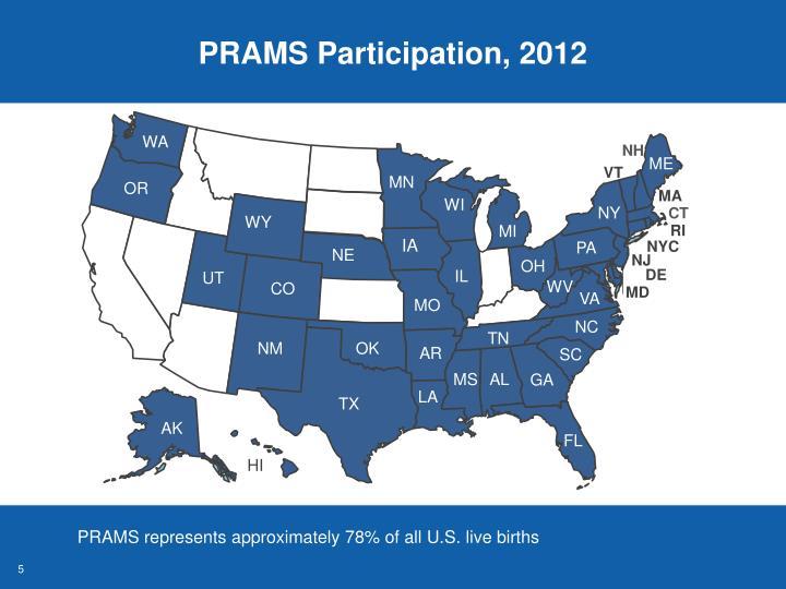 PRAMS Participation, 2012