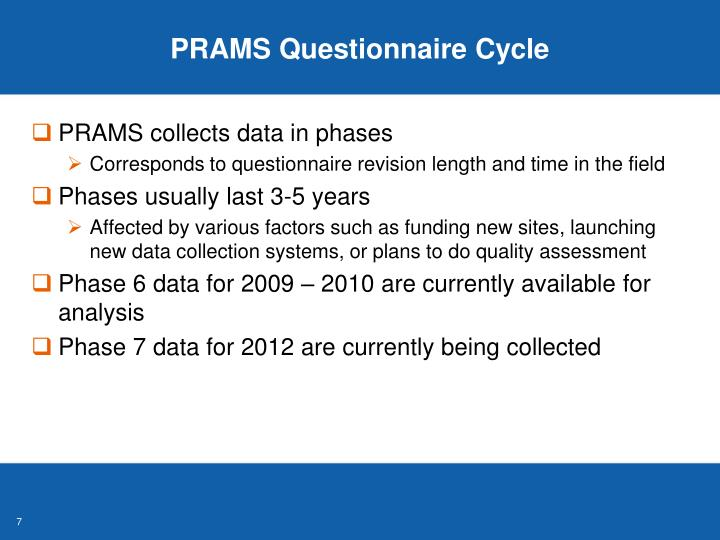 PRAMS Questionnaire Cycle