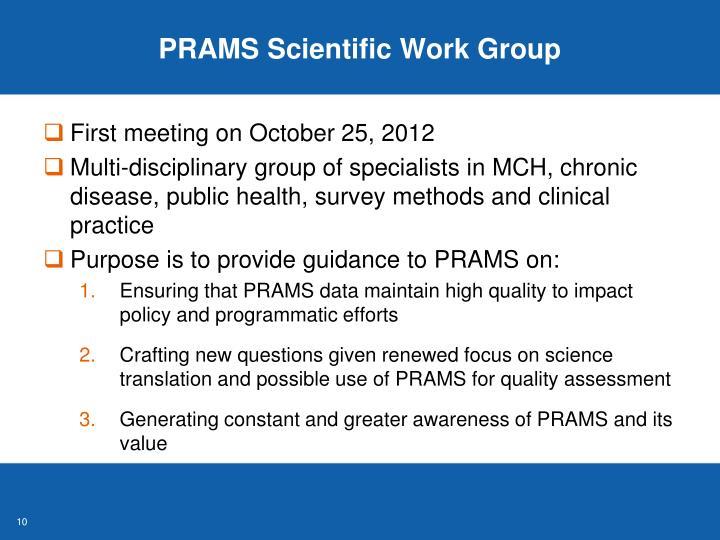 PRAMS Scientific Work Group