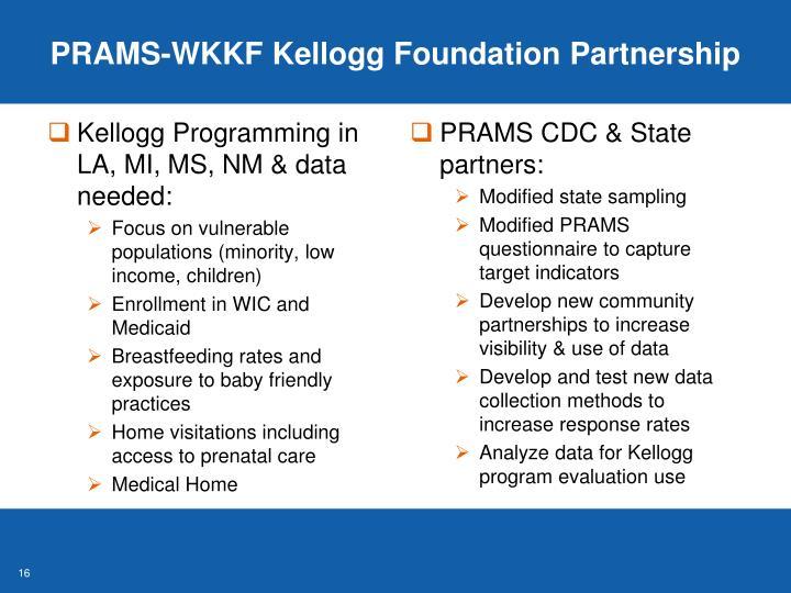 PRAMS-WKKF Kellogg Foundation Partnership