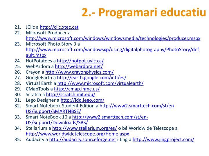 2.- Programari educatiu