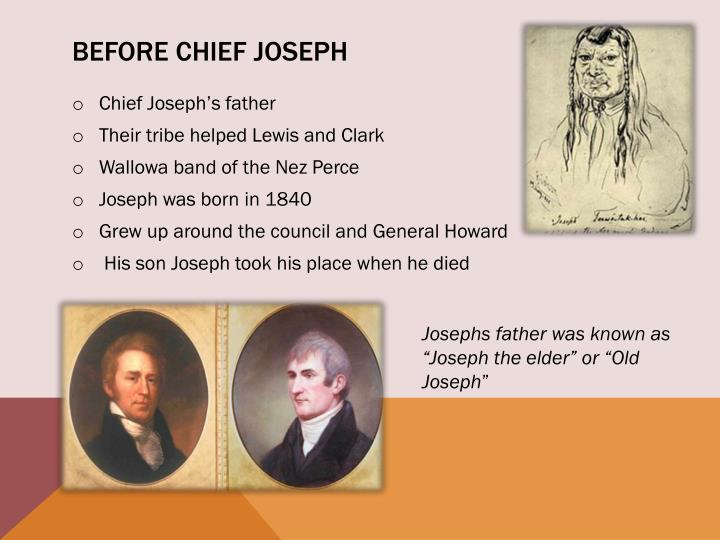 Before Chief Joseph