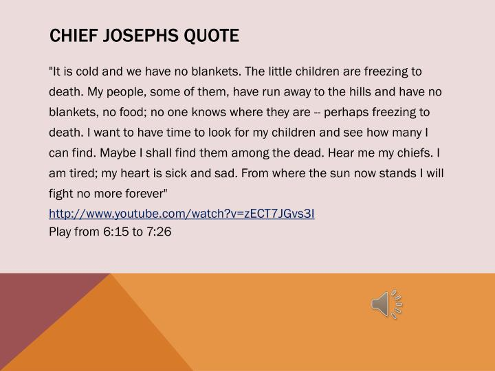 Chief Josephs quote
