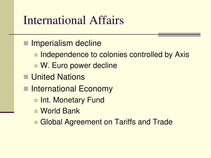 International Affairs