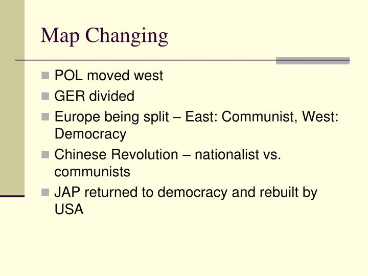 Map Changing
