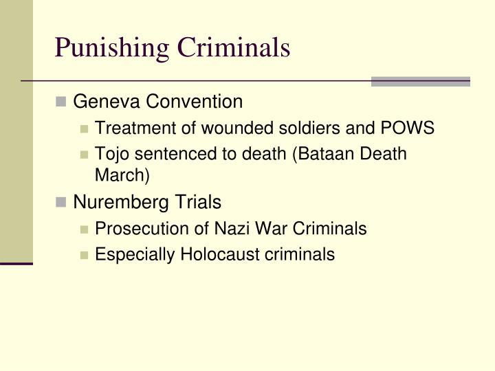 Punishing Criminals