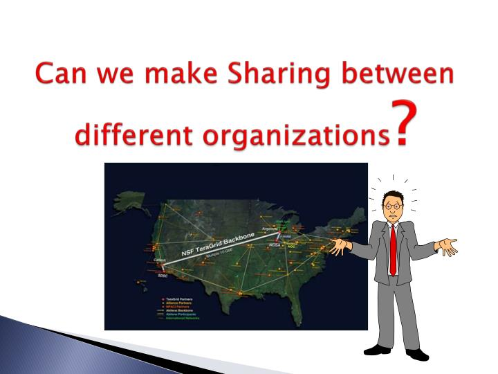 Can we make Sharing between different organizations