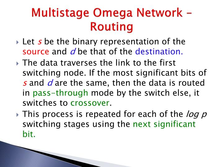Multistage Omega Network – Routing