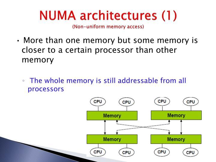 NUMA architectures (1)