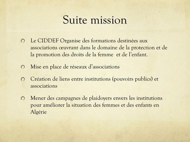 Suite mission
