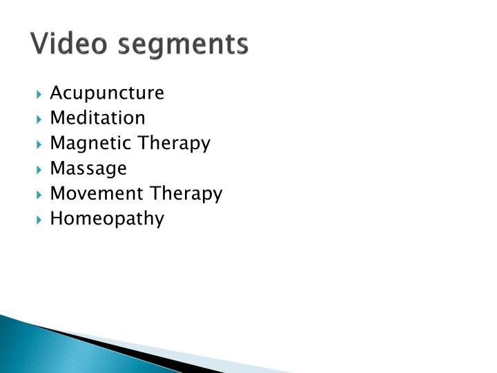 Video segments