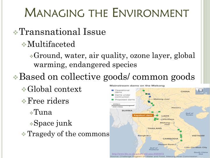 Managing the Environment