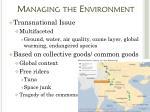managing the environment1