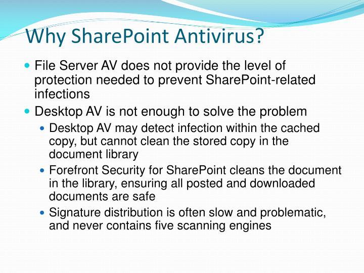 Why SharePoint Antivirus?