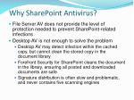 why sharepoint antivirus