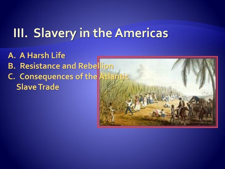 III.  Slavery