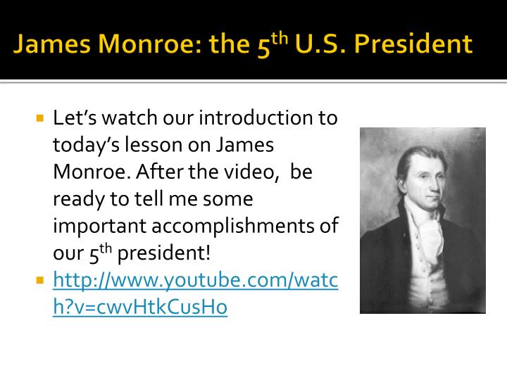 James monroe the 5 th u s president