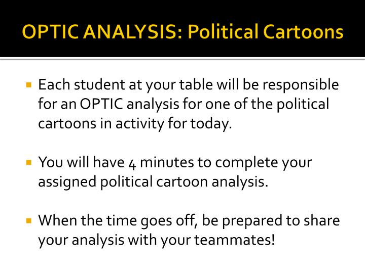 OPTIC ANALYSIS: Political Cartoons