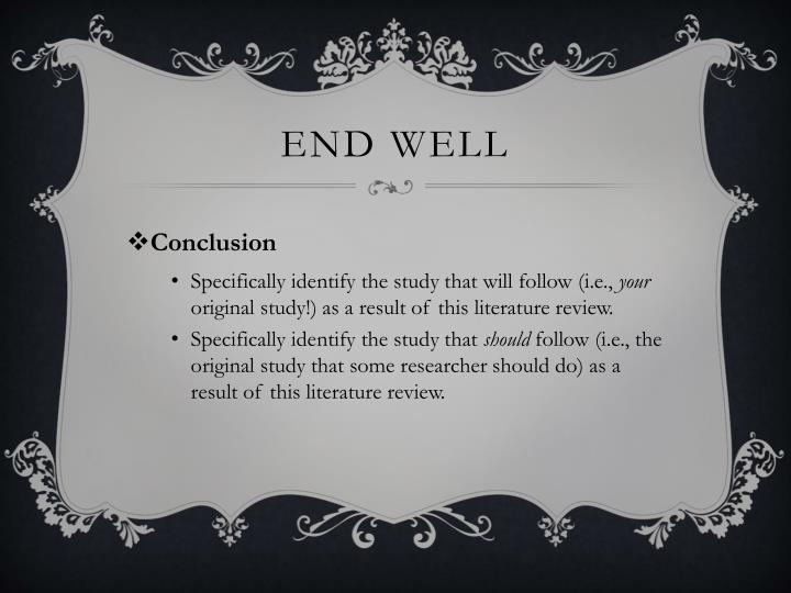 end well