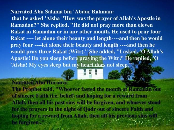 Narrated Abu