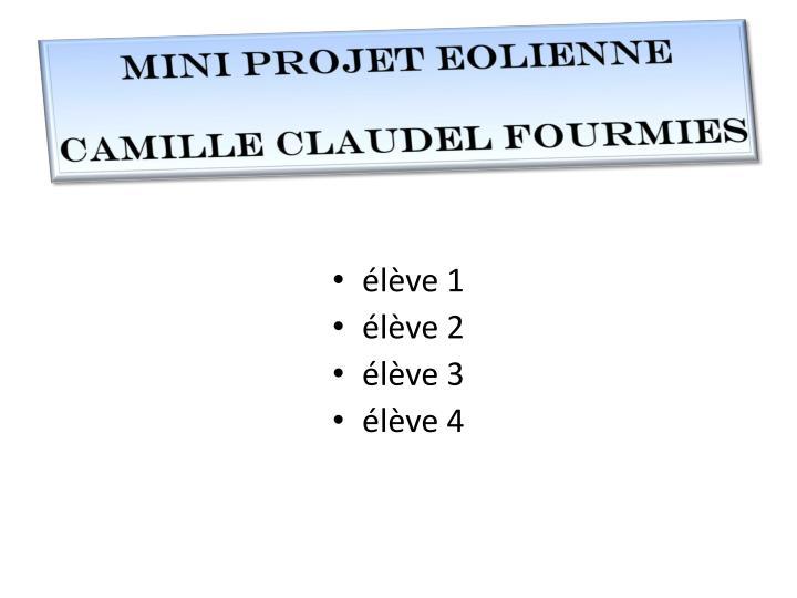 Mini projet EOLIENNE