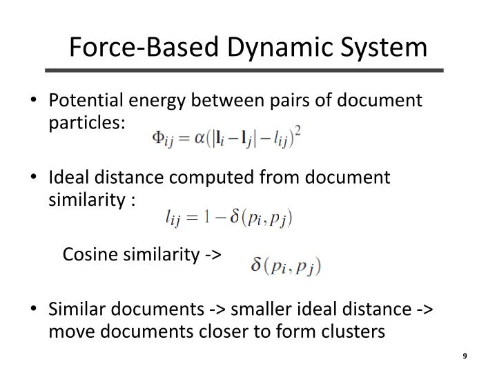 Force-Based Dynamic System