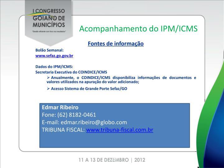 Acompanhamento do IPM/ICMS