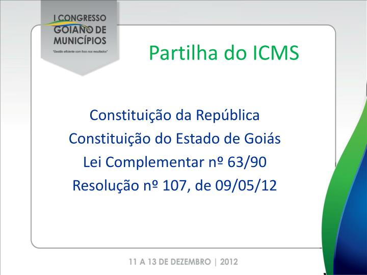 Partilha do ICMS