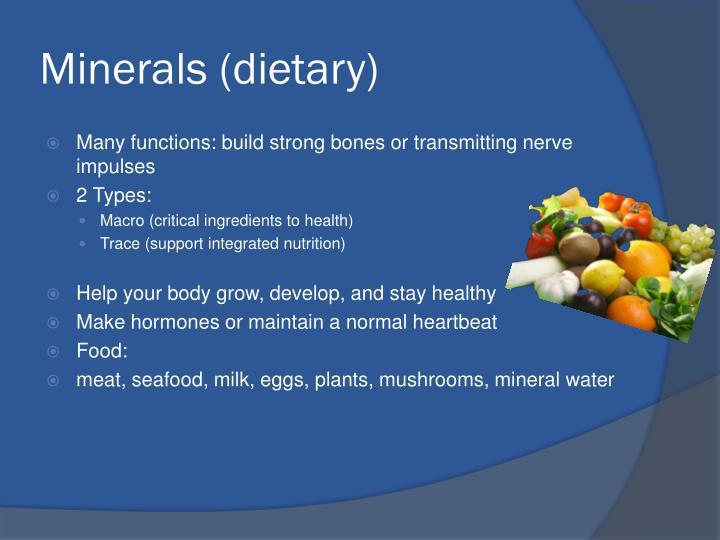 Minerals (dietary)