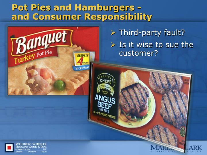 Pot Pies and Hamburgers -