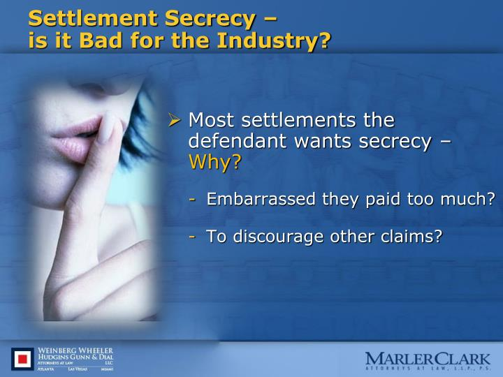 Settlement Secrecy –