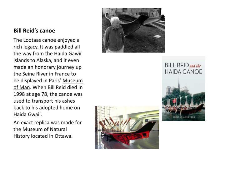 Bill Reid's canoe