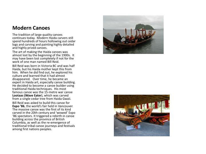 Modern Canoes