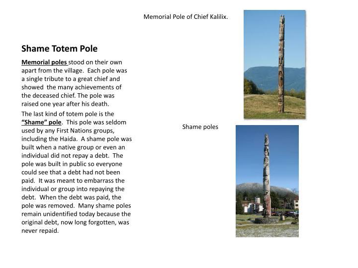 Shame Totem Pole