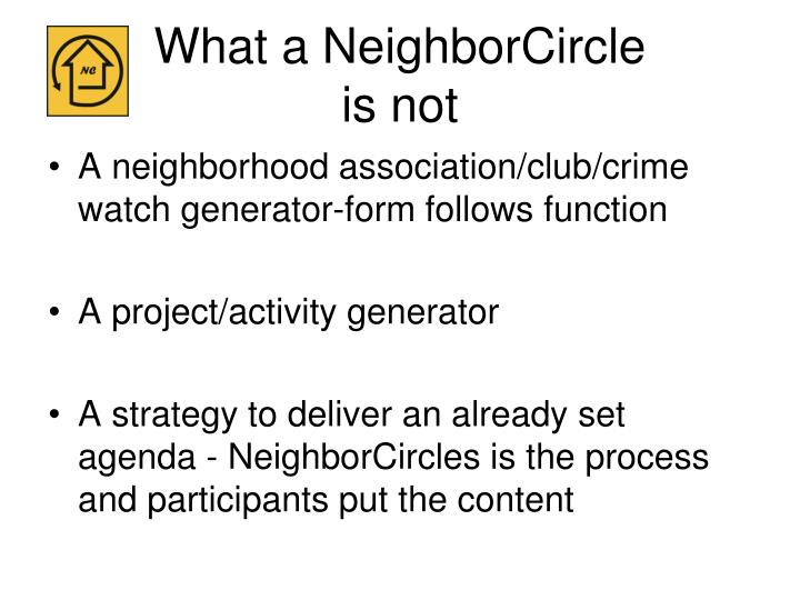 What a NeighborCircle