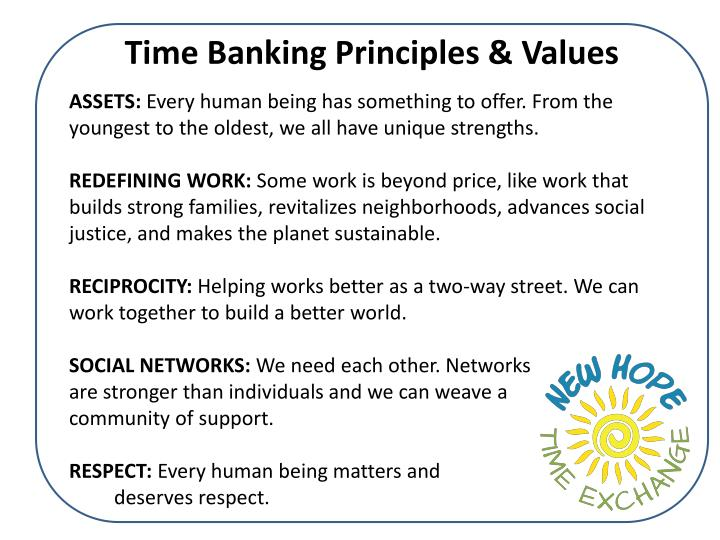 Time Banking Principles & Values