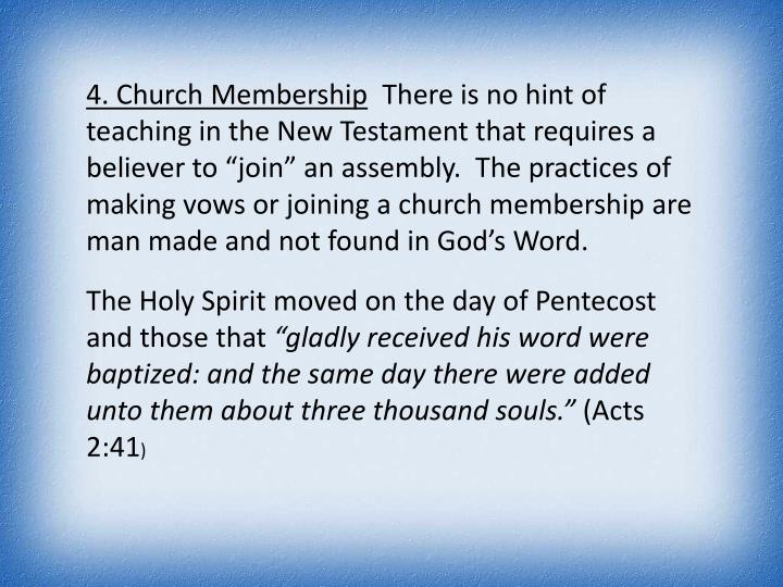4. Church Membership
