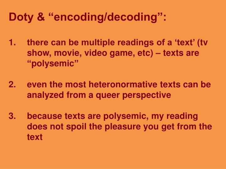 "Doty & ""encoding/decoding"":"