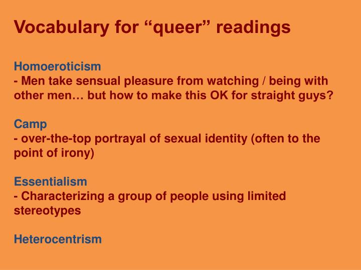 "Vocabulary for ""queer"" readings"