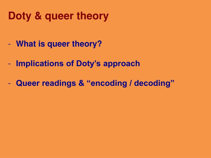 Doty & queer theory
