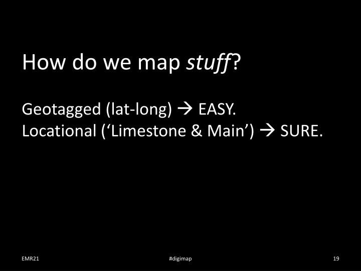 How do we map
