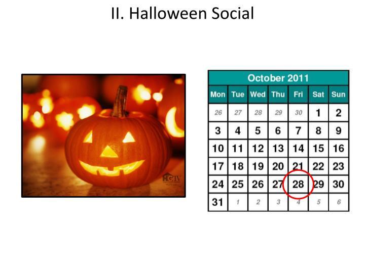II. Halloween Social