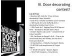 iii door decorating contest