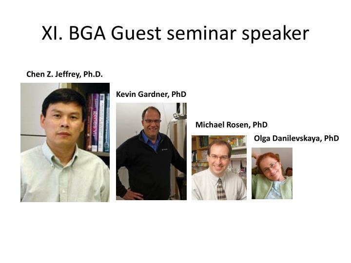 XI. BGA Guest seminar speaker