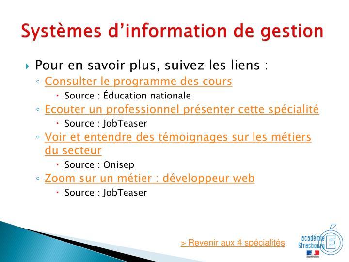 Systèmes d'information de gestion