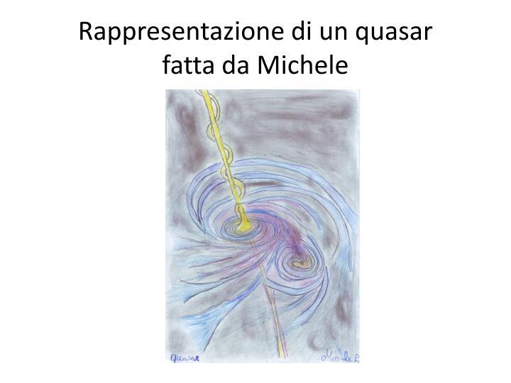 Rappresentazione di un quasar